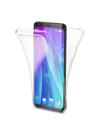 Microsonic Samsung Galaxy S9 Plus Kılıf 6 tarafı tam full koruma 360 Clear Soft  Renksiz